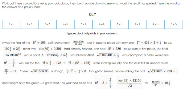 Blog Gcse Numeracy Resources. A Chance To Practice Calculator Skills By Typing Different Sums Into The Machine And Obtaining Words Holding Upsidedown. Worksheet. Calculator Words Worksheet At Mspartners.co